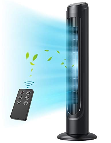 Tower Fan, Dreo 90° Oscillating Fans with Remote, Quiet Cooling,12 Modes, 12H Timer, Space-Saving,...
