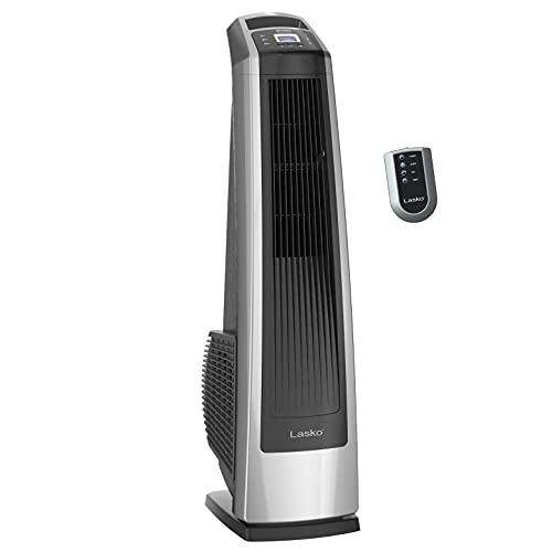 Lasko U35115 Electric Oscillating High Velocity Stand-Up Tower Fan with Timer and Remote Control for...