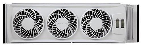 Bionaire Window Fan Review:Bionaire whole-house triple window fan