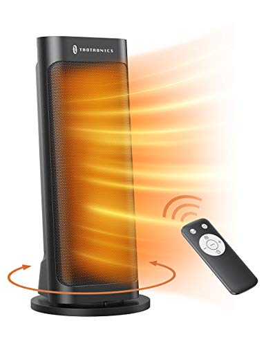 Space Heater, TaoTronics PTC 1500W Fast Quiet Heating Ceramic Tower Heater Oscillating Portable...