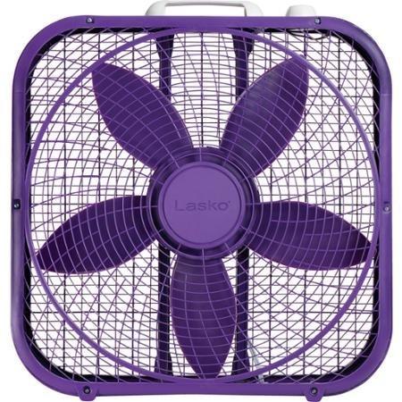 Lasko Box Fan Review:Lasko Cool Colors 20'' Box Fan Durable Metal Frame Purple