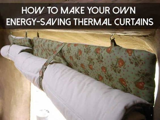 Make your own thermal curtains to prevent your house from heating up in summer #diy #whatfans #energysaving #savingmoney #summertips #energysavingtips #coolingtips #homeDecor